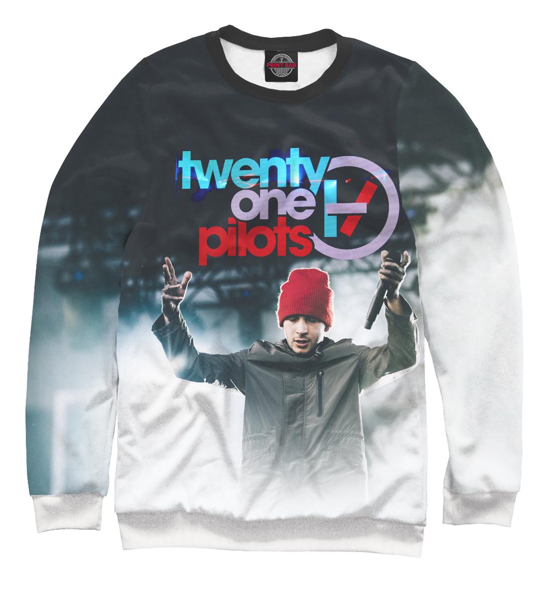 Женский свитшот 3D Twenty One Pilots - Тайлер и красная шапка от Print Bar