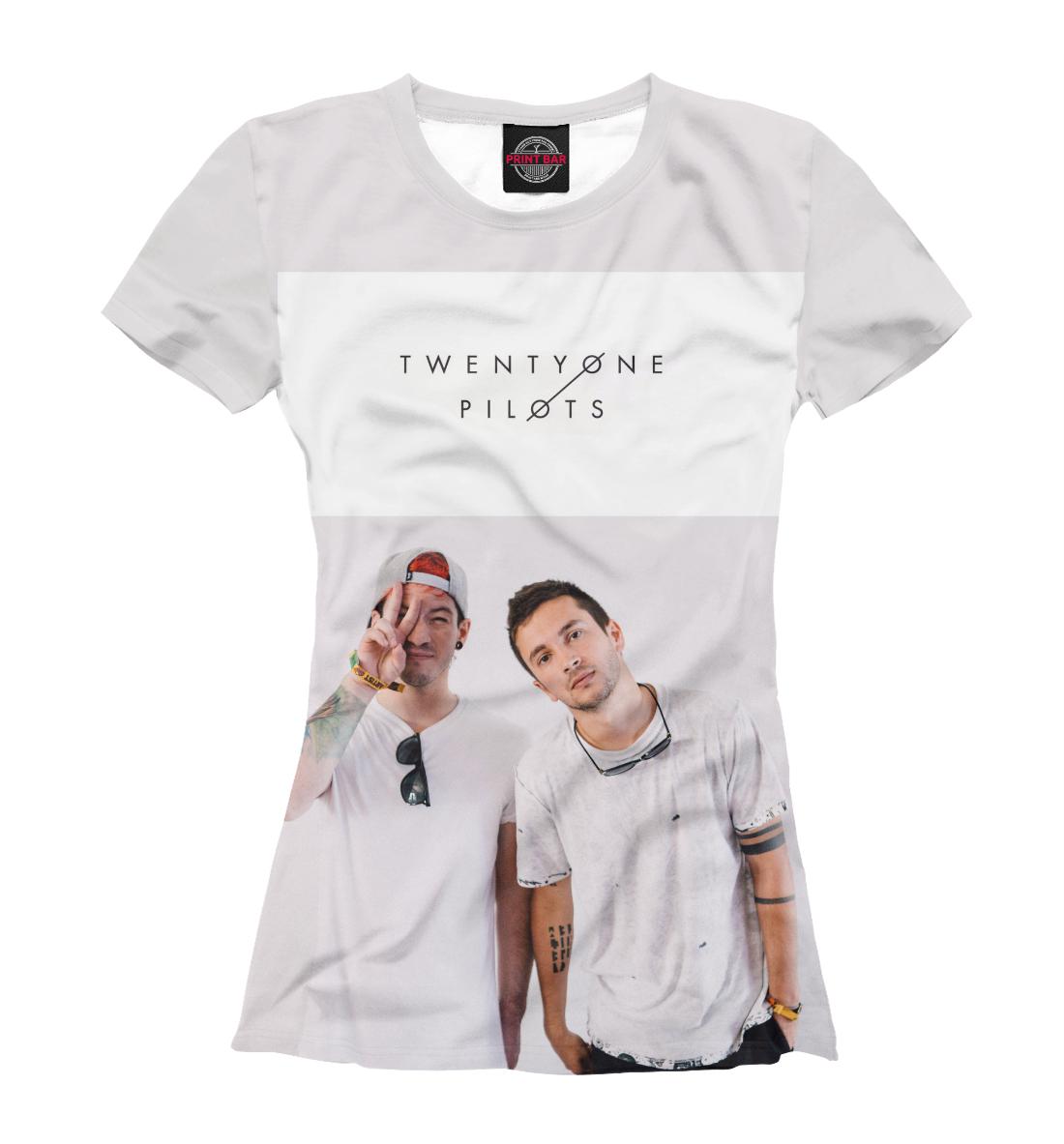 Женская футболка 3D Тайлер Джозеф и Джош Дан от Print Bar